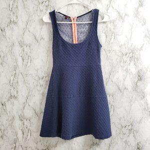 BONGO no sleeve fit flare blue mesh Dress Size S